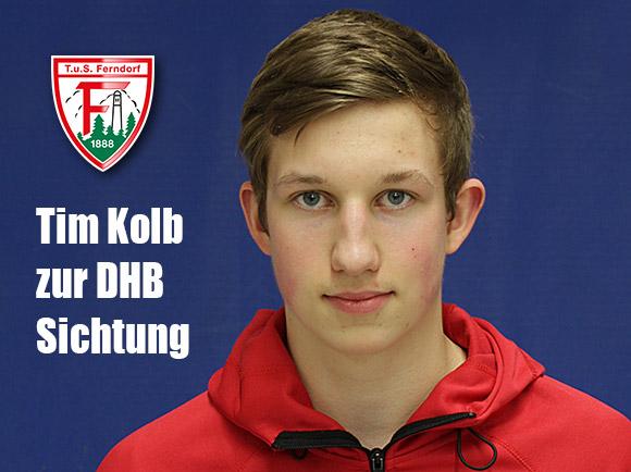 TuS-Spieler Tim Kolb erhielt Einladung zur DHB-Sichtung