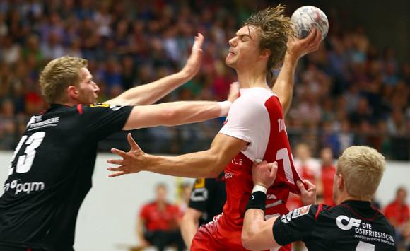 Patrick Bettig im Hinspiel gegen den OHV Aurich. (Foto: Horst Schaumann)