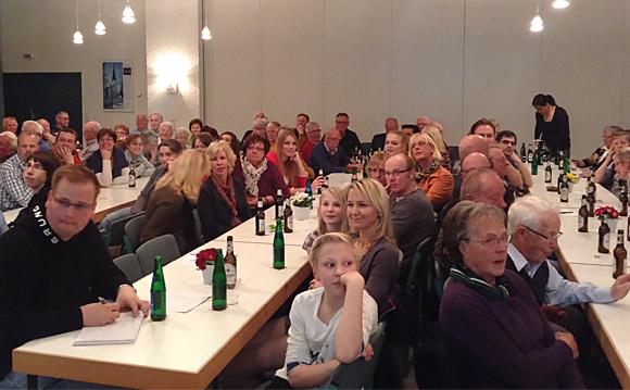 Mehr als 120 Mitglieder kamen zur Jahreshauptversammlung 2014