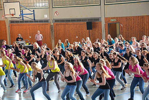 Der Flashmob anlässlich des Tanz-Matinees 2014 war einer der Höhepunkte