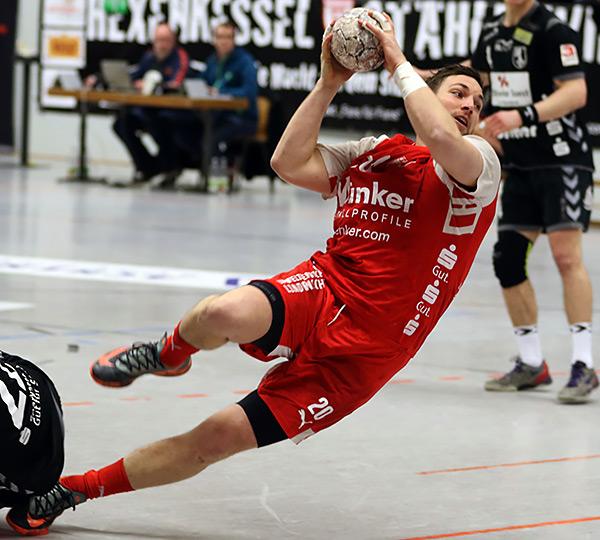Kreisläufer Moritz Barkow war in Zweibrücken erfolgreichster Schütze mit 7 Toren (Foto: Schaumann)