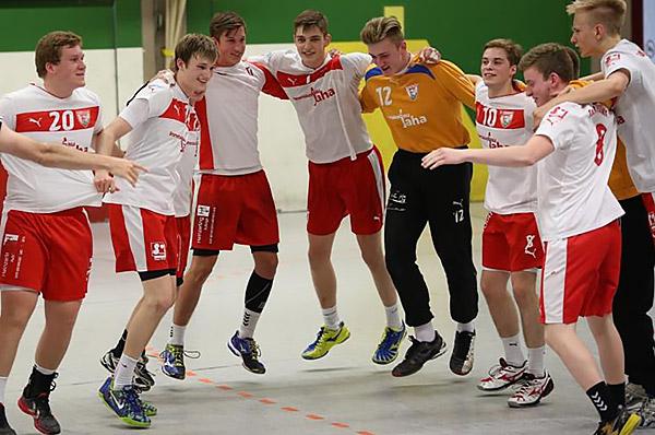 Große Freude bei dem Team von Trainer Alex Orlov- Aufstieg! (Foto: J.Klein)