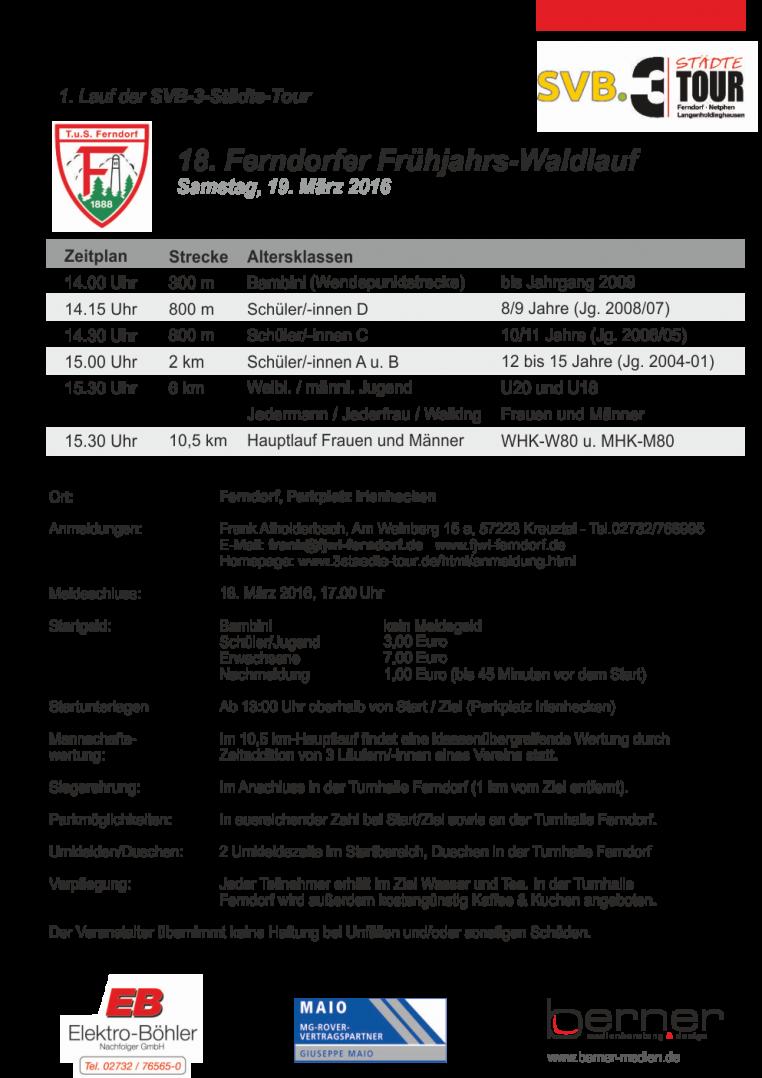 Tus Ferndorf 3-Städte Tour 2016
