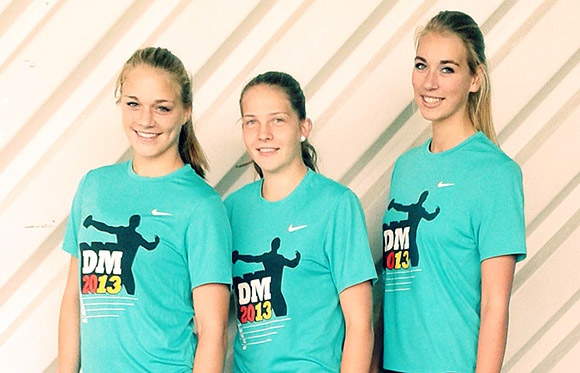 Die Viertplatzierten der Deutschen Jugend Mehrkampfmeisterschaften