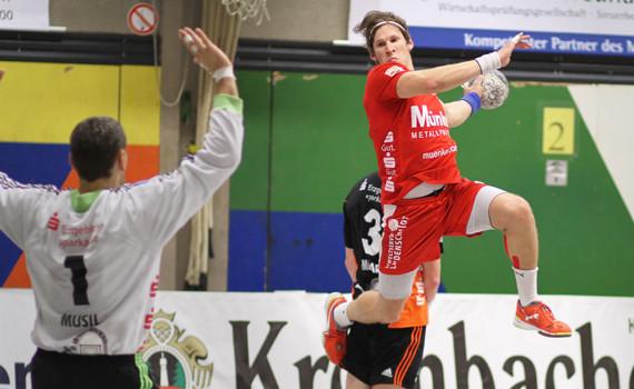 Dennis Aust will gegen Düsseldorf wieder treffen. (Foto: TuS Ferndorf)