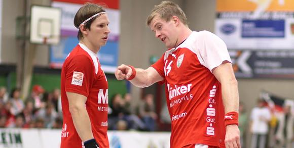 Die beiden Linkshänder Dennis Aust und Carsten Lange wollen Samstag gegen den TVK wieder alles geben. (Foto: TuS Ferndorf)