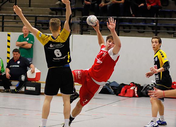 Mit vier Toren am Sieg beteiligt - Kreisläufer Fabian Benger (Foto: Marvin Müller)