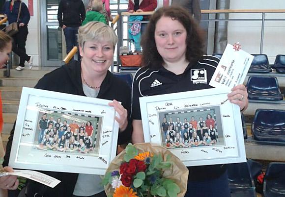 Verabschiedung von Karin Böcking (li.) und Lena Becker