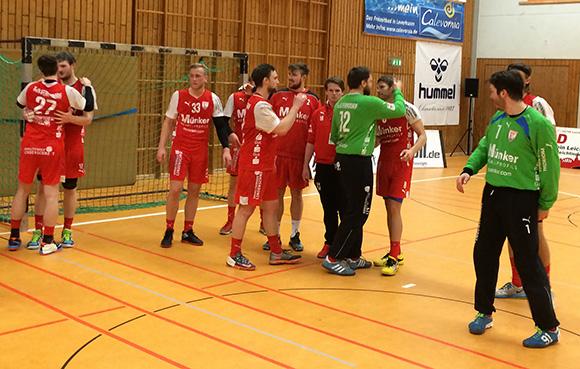 Große Freude nach dem Sieg in Leichlingen.