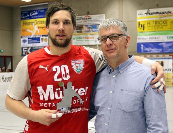 Tor des Monats März in der DKB Handball-Bundesliga erzielte Moritz Barkow (Foto: Schaumann)