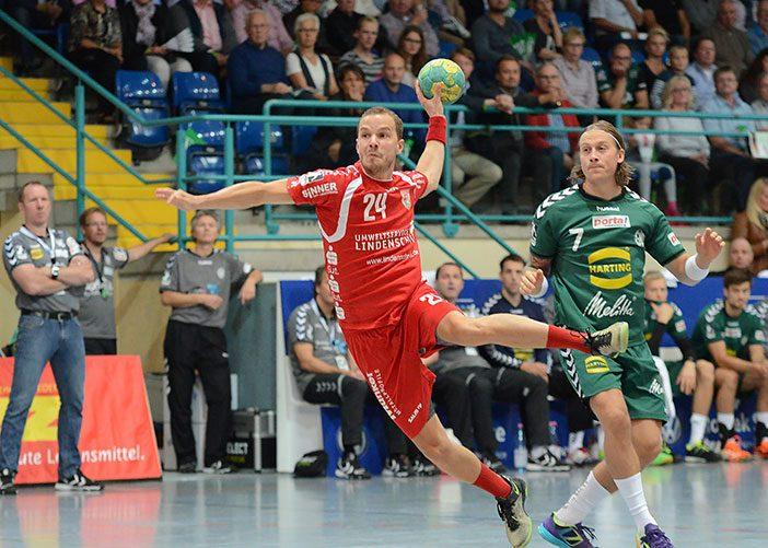 Miro Volentics gehörte neben Daniel Mestrum mit 8 Treffern zu den erfolgreichsten Schützen (Foto: A.Metge/GWD Minden)