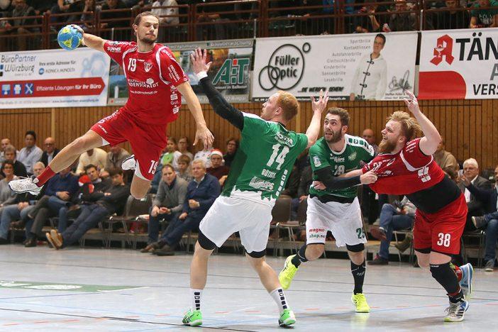 Trotz drei Toren von Patrick Bettig unterlag der TuS in Würzburg (Foto: DJK Rimpar)
